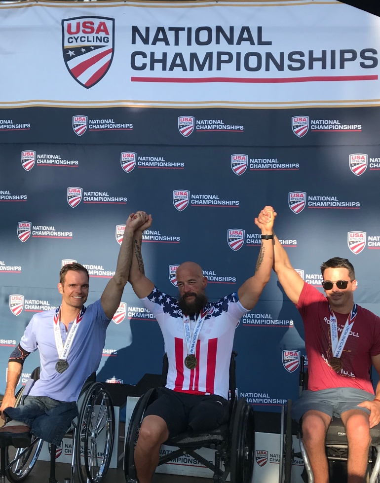 2018 National Championships Time Trial Podium